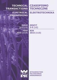 Czasopismo Techniczne, 2016/6, Elektrotechnika Zeszyt 2-E 2016