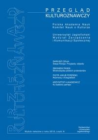 Przegląd Kulturoznawczy, 2012/12, Numer 2 (12)