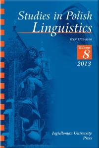 Studies in Polish Linguistics, 2013/11, Issue 1