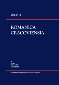 Romanica Cracoviensia, 2014/10, Tom 14, Numer 2