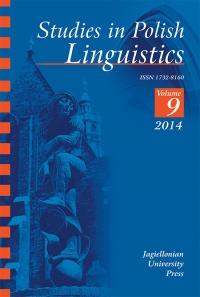 Studies in Polish Linguistics, 2014/5, Issue 1