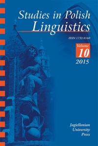 Studies in Polish Linguistics, 2015/1, Issue 1