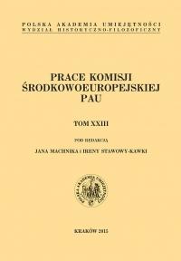 Studia Środkowoeuropejskie i Bałkanistyczne, 2015/1, Tom XXIII