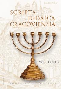 Scripta Judaica Cracoviensia, 2013/1, Volume 11