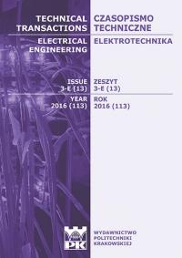 Czasopismo Techniczne, 2016/7, Elektrotechnika Zeszyt 3-E 2016