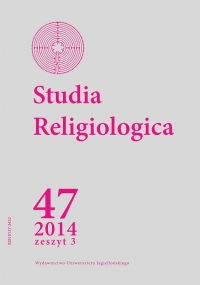 Studia Religiologica, 2014/11, Tom 47, Numer 3