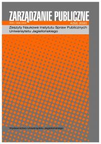 Zarządzanie Publiczne, 2020/12, Numer 4 (52)