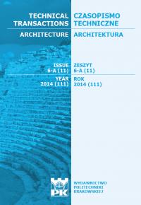 Czasopismo Techniczne, 2014/6, Architektura Zeszyt 6 A (11) 2014
