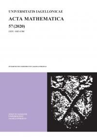 Universitatis Iagellonicae Acta Mathematica, 2020/12, Tom 57