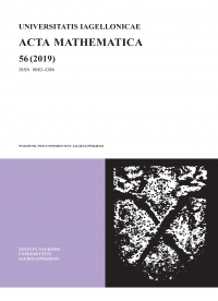 Universitatis Iagellonicae Acta Mathematica, 2019/12, Tom 56