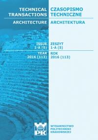 Czasopismo Techniczne, 2016/5, Architektura Zeszyt 1-A (5) 2016