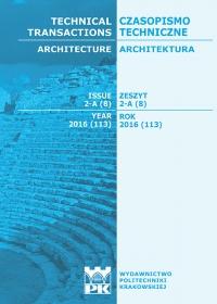 Czasopismo Techniczne, 2016/7, Architektura Zeszyt 2-A (8) 2016
