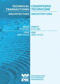 Czasopismo Techniczne, 2014/5, Architektura Zeszyt 5 A (10) 2014
