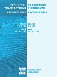Czasopismo Techniczne, 2015/5, Architektura Zeszyt 6-A (9) 2015