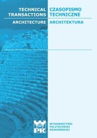 Czasopismo Techniczne, 2014/8, Architektura Zeszyt 8 A (15) 2014