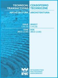 Czasopismo Techniczne, 2013/3, Architektura Zeszyt 1-A (3) 2013