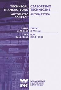 Czasopismo Techniczne, 2013/9, Automatyka Zeszyt 2 AC (10) 2013