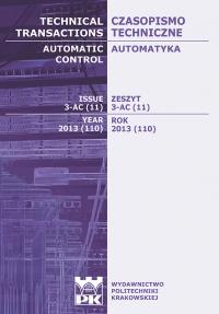 Czasopismo Techniczne, 2013/10, Automatyka Zeszyt 3-AC (11) 2013