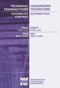 Czasopismo Techniczne, 2013/12, Automatyka Zeszyt 4-AC (12) 2013
