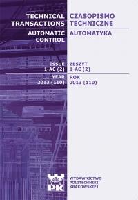 Czasopismo Techniczne, 2013/2, Automatyka Zeszyt 1-AC (2) 2013