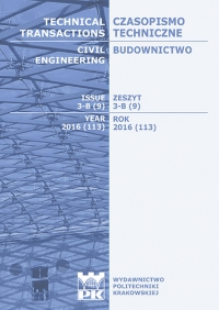 Czasopismo Techniczne, 2016/6, Budownictwo Zeszyt 3-B (9) 2016
