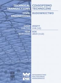 Czasopismo Techniczne, 2015/6, Budownictwo Zeszyt 2-B (12) 2015