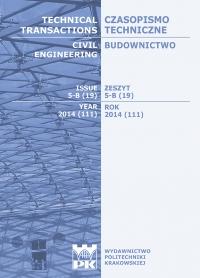 Czasopismo Techniczne, 2014/10, Budownictwo Zeszyt 5-B (19) 2014