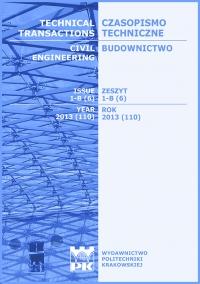 Czasopismo Techniczne, 2013/6, Budownictwo Zeszyt 1-B (6) 2013