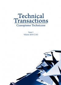 Czasopismo Techniczne, 2019/1, Volume 1