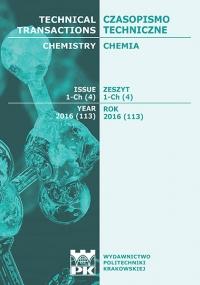 Czasopismo Techniczne, 2016/4, Chemia Zeszyt 1 Ch (4) 2016