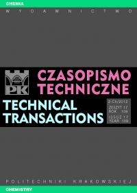 Czasopismo Techniczne, 2012/5, Chemia Zeszyt 2-Ch (17) 2012
