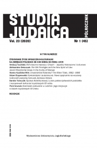 Studia Judaica, 2020/11, Nr 1 (45)