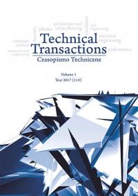 Czasopismo Techniczne, 2017/1, Volume 1