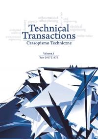 Czasopismo Techniczne, 2017/5, Volume 5
