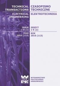 Czasopismo Techniczne, 2016/2, Elektrotechnika Zeszyt 1-E (2) 2016