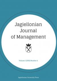 Jagiellonian Journal of Management, 2015/11, Numer 4