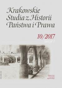 Krakowskie Studia z Historii  Państwa i Prawa, 2017/1, Zeszyt 1