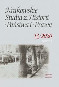 Krakowskie Studia z Historii  Państwa i Prawa, 2020/12, Zeszyt 4