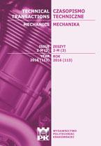 Czasopismo Techniczne, 2016/1, Mechanika Zeszyt 1-M (1) 2016