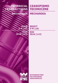 Czasopismo Techniczne, 2016/3, Mechanika Zeszyt 3-M (10) 2016