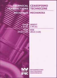 Czasopismo Techniczne, 2013/5, Mechanika Zeszyt 1-M (5) 2013