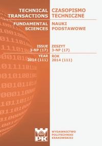 Czasopismo Techniczne, 2014/9, Nauki Podstawowe Zeszyt 3 NP (17) 2014