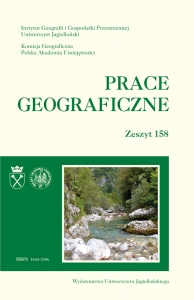 Prace Geograficzne, 2019/9, Zeszyt 158