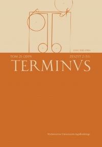 Terminus, 2019/6, Tom 21, zeszyt 2 (51)