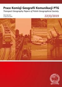 Prace Komisji Geografii Komunikacji PTG , 2019/9, 22 (3)