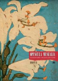 Opuscula Musealia, 2018/12, Volume 25
