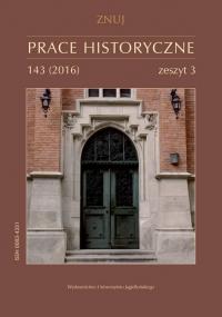 Prace Historyczne, 2016/9, Numer 143 (3)