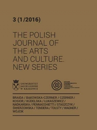 The Polish Journal of the Arts and Culture. New Series, 2016/1, 3 (1/2016)