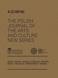 The Polish Journal of the Arts and Culture. New Series, 2016/12, 4 (2/2016)