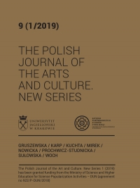 The Polish Journal of the Arts and Culture. New Series, 2019/10, 9 (1/2019)